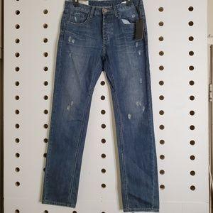 Man X One Teaspoon Mr White Distressed Jeans